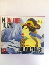 The Rolling Stones ‎– 14 On Fire Tokyo  6 cd gold box set very rare cd box set.