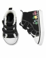 Gymboree North Pole Express Train Sherpa Hi Top Sneaker Shoes Boys 9 NEW NWT