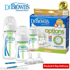 Dr Brown's Options Wide Neck Starter Kit, Baby Feeding Bottles - WB03005