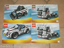 Notice / instruction booklet / LEGO CREATOR set 4993 Cool Convertible