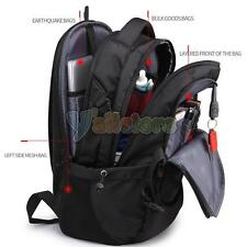 "Swiss Travel Backpack Men Women 17""Laptop Multifunction Outdoor School Sport Bag"
