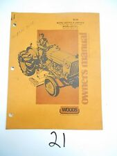 Woods L59 L306 F10-2 Ford 1000 1600 1700 1900 Mower Owner's Operator's Manual