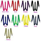 MENS LADIES UNISEX ADJUSTABLE SLIM BRACES TROUSER SUSPENDERS FANCY DRESS CLIP ON