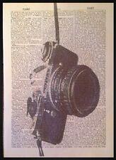 Vintage Appareil Photo Imprimé 1933 Dictionary Livre Page Art Mural Image Rétro