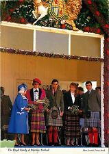 Princess Diana Prince Charles Royal Family Postcard Scottish Highlands 1989
