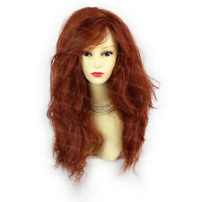 Romantic SEXY Wild Untamed Long Curly Copper Red Ladies Wigs WIWIGS UK
