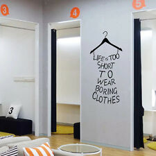 Fashion Cloth Hanger Wall Sticker Decal Art Transfer Graphic Stencil Home Vinyl