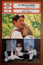 American Drama Sophie's Choice Meryl Streep Kevin Kline French Film Trade Card