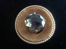 Vintage ≈≈WOW    Detailed Metal Unique Gold Tone Marvella Mesh  Pin Brooch