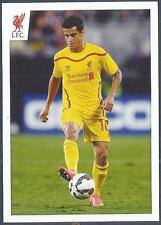PANINI LIVERPOOL STICKER-2014/15- #044-PHILIPPE COUTINHO CONTROLS THE BALL