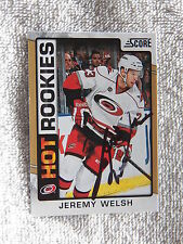 Carolina Hurricanes Jeremy Welsh Signed 12/13 Score Hot Rookies Gold Card Auto