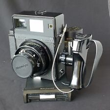 Mamiya Universal Medium Format Polaroid Camera w/100mm Lens extra Roll Film Back