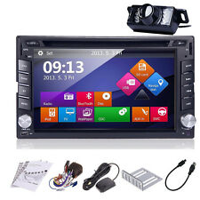 Double 2DIN In Dash GPS Navi Car DVD Player Bluetooth Auto Stereo Radio USB+CAM!