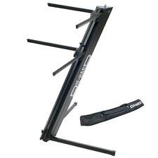 PROEL DHKS10BK Stand per tastiere in alluminio nero con borsa