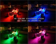 18 Color Changing Led Polaris ATV UTV Quad 4 Wheeler 6pc Led Neon Glow Kit