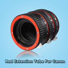 Red Metal Auto Focus Macro Extension Tube Set for CANON EF EF-S Lens Cameras