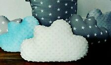 Cloud shape cushion pillow decorative nursery kids bedroom grey stars white gift