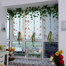 Balcony Window Kitchen Lifting Roll Up Rome Curtain Screen Embroidered Drapes