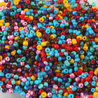 3000x 110820 Wholesale Mixed Colorful Glass Mini Seed Jewelry Making Beads 2mm