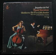 Beethoven - Jacqueline du Pré, Barenboim - Five Cello Sonatas 3 LP Mint- Record