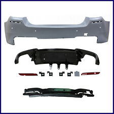 BMW F10 M5 STYLE COMPLETE REAR BUMPER KIT FOR 2011+ BMW 5 SERIES SEDAN WITH PDC