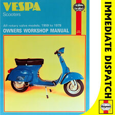 [0126] Vespa Scooters All Rotary Valve Models 1959-78 Haynes Workshop Manual