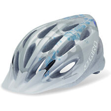 CASCO BICI Giro Indicator Bicycle Helmet Silver/Ice Blue Flowers