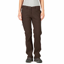 CRAGHOPPERS Womens Cocoa Brown NosiLife Lightweight Trousers Size 18 L BNWT