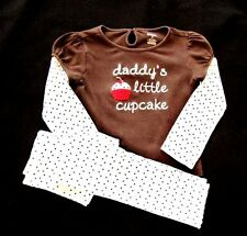 """NEW GYMBOREE """"SWEET TREATS"""" 2 PIECE OUTFIT-SAYS """"DADDY'S LITTLE CUPCAKE""""-NWT"""