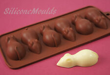 6 cell Chocolate Sugar Mice Mouse Chocolate Candy Silicone Bakeware Mould Cake