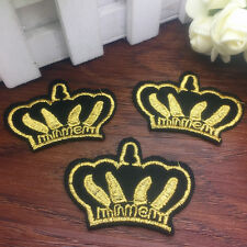 New 2pcs Hot Embroidered Cloth Iron On Patch Sew Motif Applique Badge ZA13