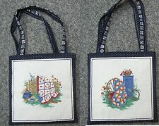 New tote hand purse shoe lunch grocery bag quilt fence vintage