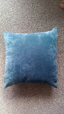 """2 X  TEAL SUPERSOFT VELOUR CHENILLE 22""""X22"""" CUSHION COVERS NEW RETRO TRENDY"""