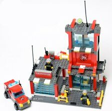 New Building Blocks Fireman Fire headquarters helicopter Toy Gift #8052 300PCS