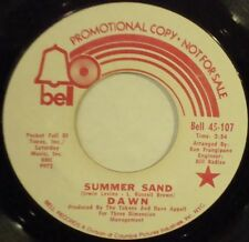 DAWN Summer Sand BELL PROMO SUNSHINE POP 45-107 EARLY TONY ORLANDO