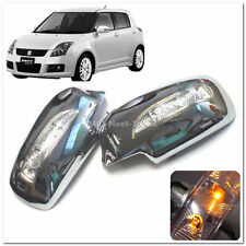 for Suzuki Swift 04~09 Chrome Door Mirror Cover Trim LED Signal Light