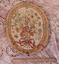 Wonderful Shabby French 18thC Needlepoint Chair Back Or Seat Cover~Handmade