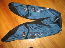 Fox Racing 180 Pants 34 MX Motor Cross ATV Riding Blue/Black Excellent Condition
