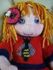 The Bee-Keeper's Daughter - Topsy-Turvy Doll -  Easy Soft Toy Knitting Pattern