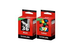 LEXMARK NO 36 BLACK AND 37 COLOUR CARTRIDGE FOR X6650