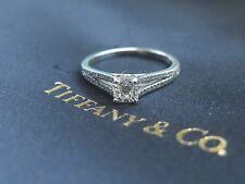 Tiffany & Co Platinum Lucida Diamond Split Shank Engagement Ring .40Ct I-VVS1