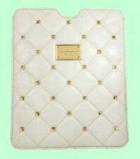 MICHAEL KORS iPAD Vanilla Studs Quilted Leather Case Cover Msrp$128 *FREE S/H*