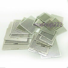 New 21pcs Heat Directly Rework BGA Reballing Stencils Template XBOX360 PS3 CPU