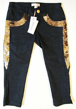 ROBERTO CAVALLI ANGELS SIMONETTA GIRLS JEANS WITH SEQUINS sz 5 AUTHENTIC NEW