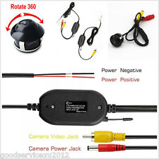 Mini Rotatable Car Rearview Backup Camera 2.4GHz Wireless Receiver & Transmitter