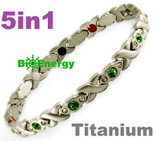 Magnetic Energy Germanium Armband Power Bracelet Health Bio Magnet 5in1 lady's