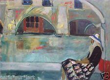 Jeanne LANGLOIS-BELLOT (1894-1986) HsP Signée Ecole de Paris Années 50' Fauvisme