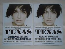 TEXAS/Sharleen Spiteri Live 25 years of hits 2015 UK Tour Promo tour flyers x 2