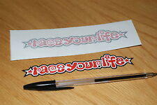 "Simoncelli ""Race Your Life"" Screen Decals (Pair)"