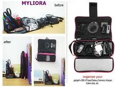 MYLIORA Cable Charger Organiser in BLACK - NEW